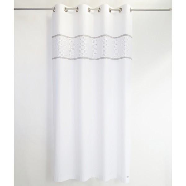 Gray White Nursery Curtains