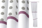 Grey Dots Blackout Curtains