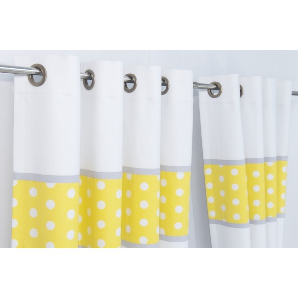 Yellow Grey Blackout Curtains