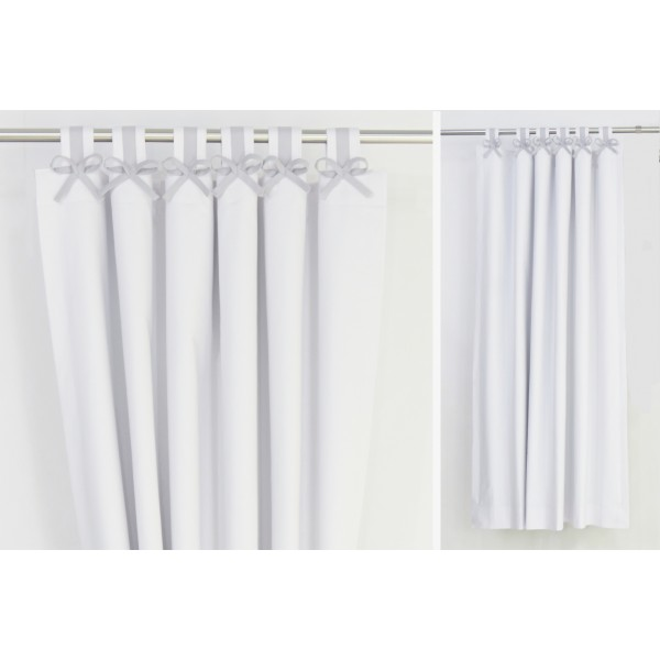 Grey White Nursery Blackout Curtains