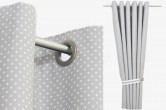 Grey Eyelet Blackout Curtains