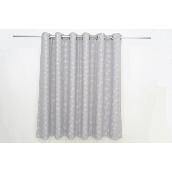 Gray Polka Dot Nursery Curtains