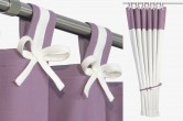 Purple & White Nursery Curtains