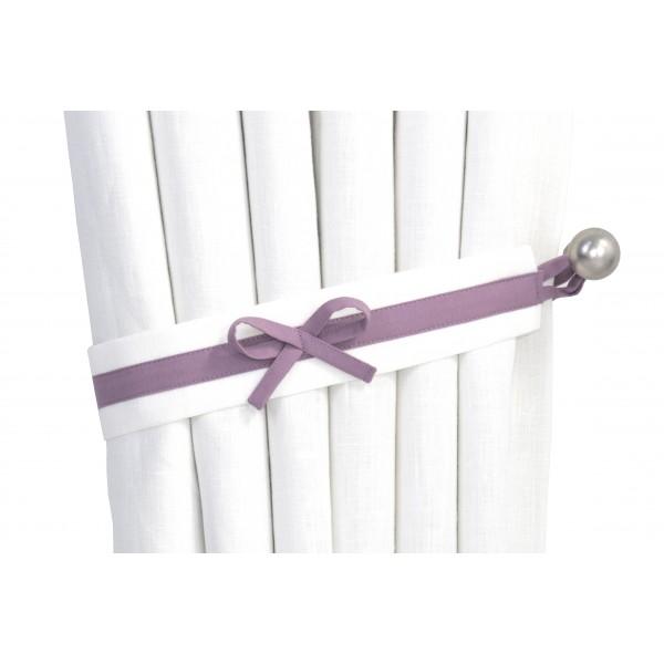 ... Purple & White Nursery Curtains ...