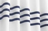 White Navy Grey Nursery Curtains