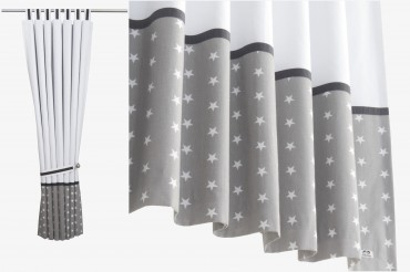 White Stars Blackout Curtains