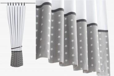 White Stars Blackout Curtains