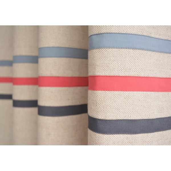 Red Blue Grey Boys Room Curtains