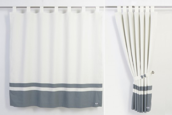 Grey And White Nursery Curtains - Rooms