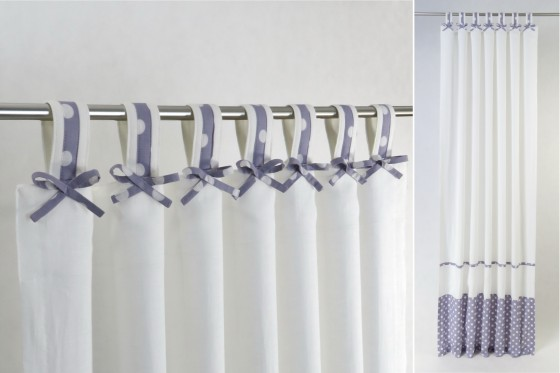 Nursery Curtains with Lavender Bows