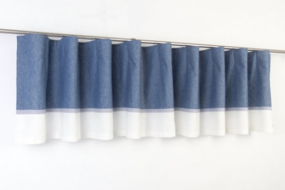 Wave Pleat Sea Theme  Boy Valance