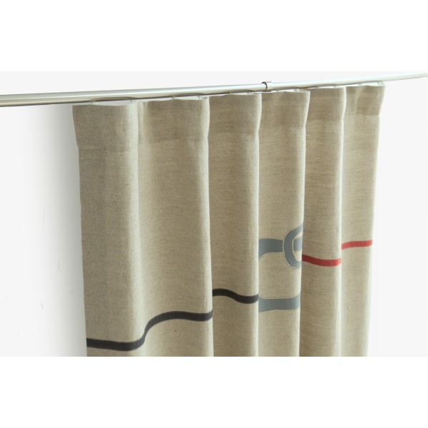 ... Grey · Neutral Funky Curtains With Red U0026 ...