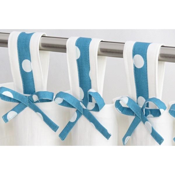 Natural linen tab top children nursery curtains