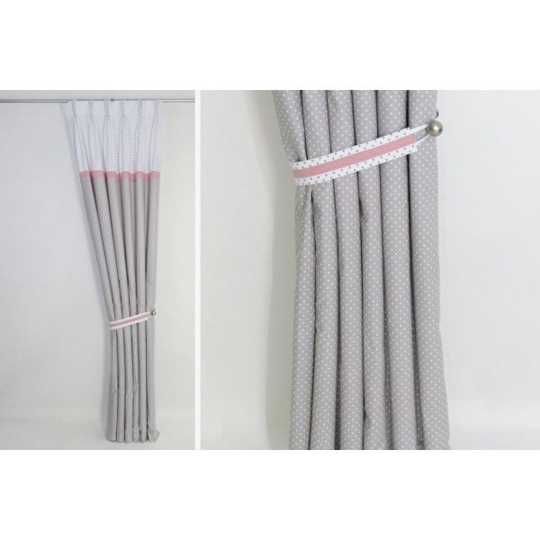 Grey Pink Blackout Curtains