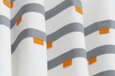 Grey & Orange Modern Curtains