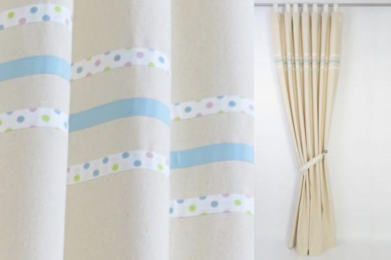 Boy's Nursery Curtains with Blue