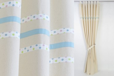 Boy's Nursery Curtains with Blue