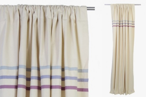 Purple Stripes Curtains
