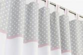 Grey Polka Dot Blackout Curtains