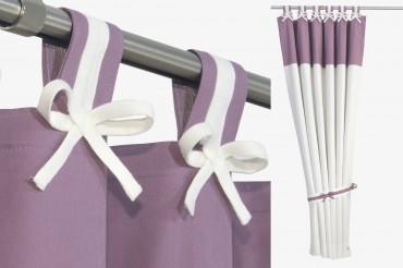 Purple & White Nursery Curtains