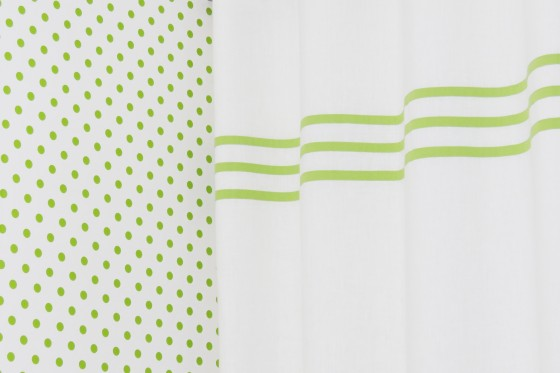 Green Stripes Linen Blackout Curtains