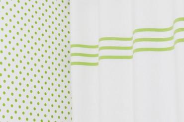 Green Stripes Linen Blackout Curtains
