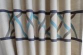 Scandinavian style boys tab top curtains
