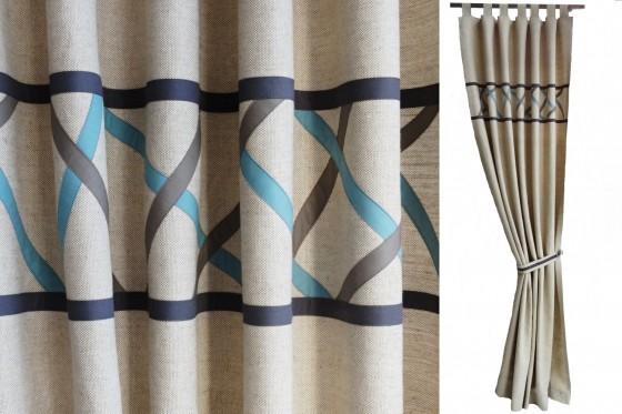 Diagonal Stripes Boys Curtains