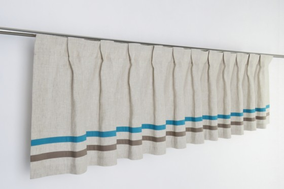French Pleat Linen Boy Valance
