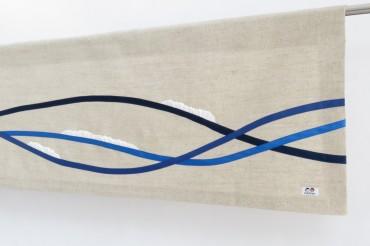 Waves Linen Rod Pocket Valance
