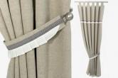 White Frill Linen Curtain