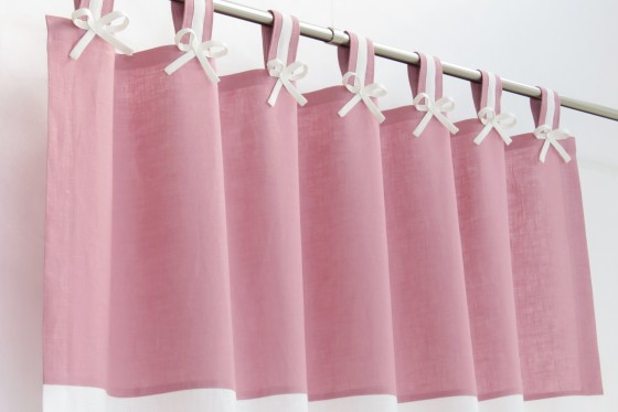 Pink & White Nursery Curtains