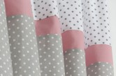 Grey & Pink  Blackout Curtains