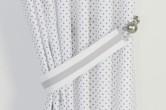 Grey & White Polka Dot Curtains
