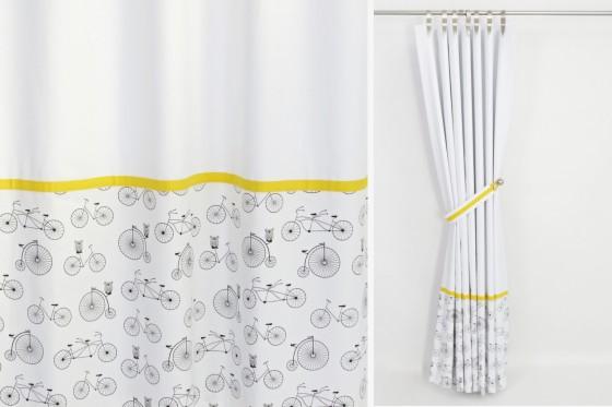 Black White Yellow Blackout Curtains