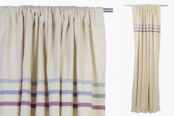 Purple Stripes Curtains
